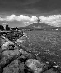 Mayon Volcano from the Legazpi pier. (FotoGrazio) Tags: seawall composition landscape waynesgrazio nature water fotograzio worldphotographer legazpi photographicart volcano flickr clouds sandiegophotographer philippines digitalphotography californiaphotographer ocean beautiful waynegrazio photography scenic 500px mayanvolcano mayonvolcano internationalphotographer blackandwhite photographicartist sky