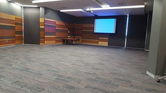Conference room - video screen