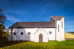 CHURCH OF ST MICHAEL AND ALL ANGELS, BEDDAU (technodean2000) Tags: church of st michael and all angels autumn colour color beddau plant tree foliage outdoor serene