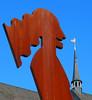 Revenge Of The Worm (TablinumCarlson) Tags: mönchengladbach nrw niederrhein rheinland germany deutschland kirche abtei münster abteiberg leica dlux 6 north rhinewestphalia nordrheinwestfalen vitus st abteikirche basilica bird worm cock hahn rache revenge earlybird gladbach frühervogel wurm verdichtung