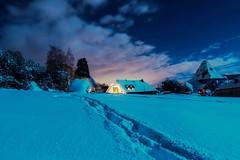 Home Sweet Home (imaginamateur) Tags: hiver nuit froid roissard trièves neige snow bleu etoiles nuages pauselongue