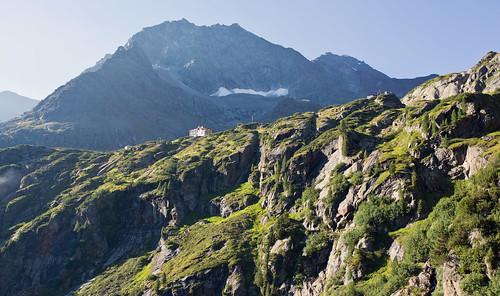 Descending from the Sulzenauhutte, Stubai Alps, Austria