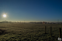 Misty Morn (MrStuy) Tags: grove ferry preston misty morning sunrise field sky sun