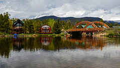 A tranquil morning on the lake, Grand Lake Colorado (Gail K E) Tags: colorado grandlake rmnp usa rockymountains mountainlake bridge rockymountainnationalpark scenic beautiful