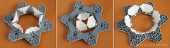 Portal concept using Hexagonal LEGO Combo NEXO Power shield plates (caperberry.tj) Tags: triangle hexagon plate piece lego afol brick part new clip bar 318 technique analysis howto