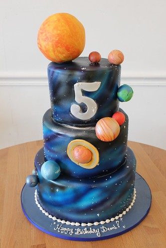 Space Solar System Cake