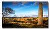 Powder Mills (jeremy willcocks) Tags: dartmoor devon uk england powdermills colour landscape stack buildings moor trees sun evening clouds jeremywillcocks wwwsouthwestscenesmeuk gunpowder fujixt1 xf1855mm