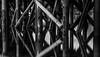 Bridge pillars (Bente Nordhagen) Tags: bridge pillars sea reflection blacandwhite bw abstract repetitions