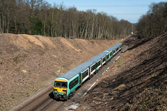 456022 and classmate at Bagshot Tunnel_14th April 2015. (Iain Brownston) Tags: southern south west trains class 456 emu britain uk surrey bagshot