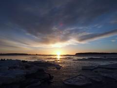 Winter sunrise (Jarno Nurminen) Tags: springisintheair arcticdaysgettinglonger tgif flare mobileoffice balticsea sea ice winter morning finland helsinki lauttasaari sunrise