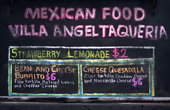 Chalk Mexican Food Menu (Orbmiser) Tags: 55200vr d90 nikon oregon portland winter menu mexican chalkboard chalk