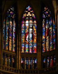Stained Glass Wonder (MrBlueSky*) Tags: glass window cathedral stvituscathedral prague czechrepublic travel praha