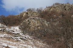 les Follatères (bulbocode909) Tags: valais suisse fully branson follatères montagnes nature arbres forêts hiver neige paysages nuages bleu