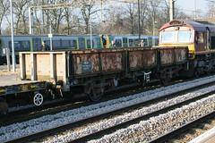 112071 Northampton 220117 (Dan86401) Tags: 112071 112 oca ocan bass dropsideopenwagon br fishkind fourwheeled wagon freight ews db dbcargo engineers departmental infrastructure civilengineer northampton wcml 6r03