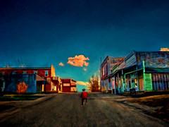 hometown (boriches) Tags: ozarks missouri grove fair street main bicycle boy sunset