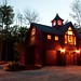 Carriage House Exterior at Night