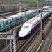 Shinkansen train, Nippori, Tokyo