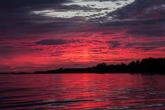 Redset (Raimo Papper) Tags: city sunset red sky sun nature water colors beautiful silhouette skyline composition canon skyscape lens landscape photography evening cool scenery colorful europe tallinn e