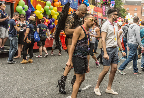 DUBLIN 2015 GAY PRIDE FESTIVAL [BEFORE THE ACTUAL PARADE] REF-106262