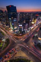 Gangnam Intersection (Brian Hammonds) Tags: city travel urban beautiful beauty architecture night contrast photography photo asia photographer image south korea full explore korean seoul frame traveling d800 traveler