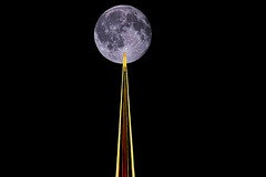 Moon-Death Star (theeqwlzr) Tags: moon blackbackground starwars outdoor astrophotography nightsky wtf minimalism outerspace lunar deathstar lazer canonrebelxti