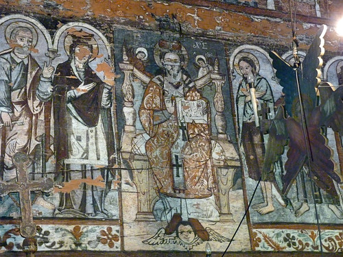 Budesti - church, Biserica de lemn Sfântul Nicolae., frecoes. (8)