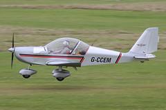 G-CCEM - 2003 build Aerotechnik EV-97A Eurostar, arriving on Runway 26L at Barton (egcc) Tags: manchester eurostar barton microlight cityairport ev97 aerotechnik evektor egcb rotax912 ev97a gccem atherden pfa31513987 oxenhopeflyinggroup