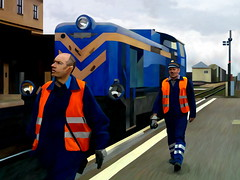 The Blue Train (Trevor Butcher - Artist) Tags: train poland polska railway locomotive lublin thebp