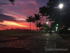 Fim de tarde em Santos (Stefan Lambauer) Tags: santos sunset gonzaga praia beach palmeiras summer pordosol 2016 sky colors calçadão calçada sãopaulo stefanlambauer brasil brazil br