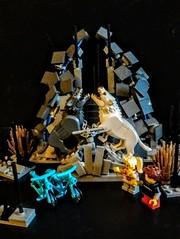 The Dire Shrine (wesleyobryan) Tags: dire shrine lego wolf statue bikes sacrifice