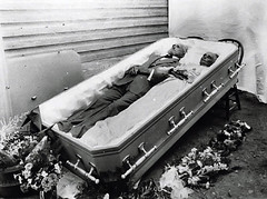 Double Burial (~ Lone Wadi Archives ~) Tags: death coffin casket funeral wake postmortem deceased retro mysterious unknown corpse dead weird strange odd peculiar