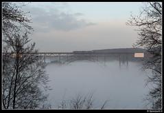 Müngstener Brücke - S 90168 (Spoorpunt.nl) Tags: 2 januari 2017 müngstener brücke solingen schaberg mist sneeuw winter vt 12 abellio spits s7 90168