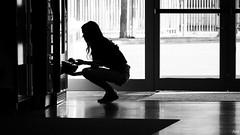 In the Morning (Pavel Jurásek) Tags: black white noir bw blackdiamond photography photographie monochrom femme human giirls public pb moments blackwhite street moment streets steetphoto impublic urban city sreetlite people photo picture pics image flickr monotone mono blackandwhite monochrome bestportraitsaoi