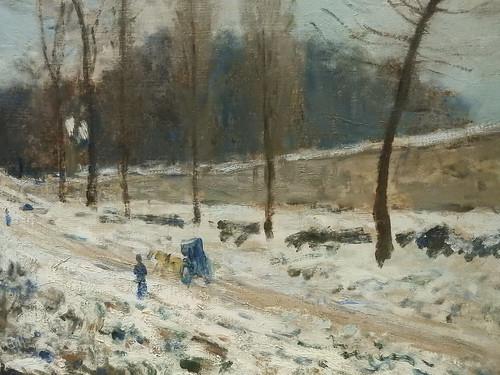 SISLEY Alfred,1877-78 - Côte du Cœur-Volant à Marly, Route de Louveciennes, Neige (Orsay) - Detail 14