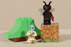 An alien and the Fly Monster (Busted.Knuckles) Tags: home toys lego minifigures alien flymonster canonsl1