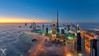 Cryogenic City I (DanielKHC) Tags: uae dubai fog burj khalifa nikon digital blending hdr d810 fisheye cityscape dawn sunrise