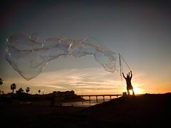 Ocean Beach Bubble Man. (isaacullah) Tags: