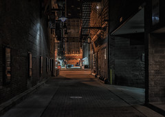 Chicago alley (urbanexpl0rer) Tags: chicago illinois city cityscape alley night nightphotography nopeople northamerica architecture streetphotography street