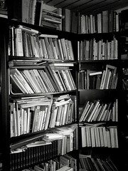 Experiments in b&w - books on a bookshelf - Large Group Of Objects Bookshelf Indoors  Shelf Education No People Arrangement Day Library Printing Press Blackandwhite Photography Blackandwhite Black&white Indoors (markjowen66) Tags: largegroupofobjects bookshelf indoors shelf education nopeople arrangement day library printingpress blackandwhitephotography blackandwhite blackwhite