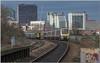 Up to Bordesley (Terry 47401) Tags: 168107 172342 bordesley station 1h41 2k23 birmingham skyline train railway