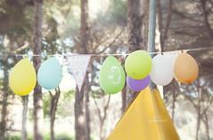 (IMAphotoArt) Tags: colori palloncini pineta alberi festa compleanno cielo