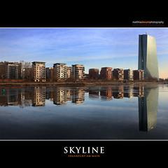 SKYLINE (Matthias Besant) Tags: frankfurt frankfurtammain main spiegelung hochhäuser skyscraper wohngebäude weselerwerft ezb europäischezentralbank matthiasbesant matthiasbesantphotography himmel sky