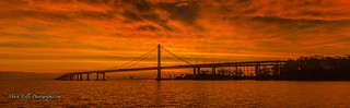 Oakland-San Francisco Bay Bridge Sunrise...