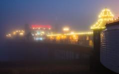 Lights in the mist (susie2778) Tags: brighton palacepier pier olympus omdem1mkii 12100mmf4pro fog lights sea