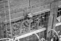 demolition reflection (obliquepanic) Tags: ec1 fx london nikon nikond810 ymca buildings construction demolition fullframe england unitedkingdom