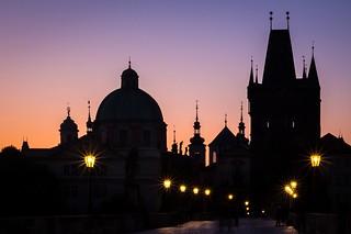 Sunrise at the Charles Bridge - Prague (explored)