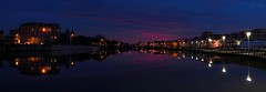 Wesley Lake Panorama (markchevy) Tags: wesleylake coastal lights panorama dusk blue sky sunset evening clouds colorful asburypark oceangrove ocean sea nj newjersey landscape photo pictorial pix scene graphic atlantic picture vista interesting omdem10 1454mm markchevy johnspilatro