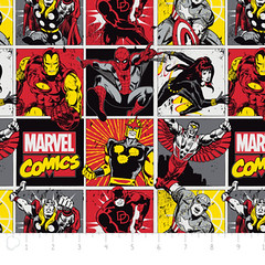 """(Camelot Cottons) Marvel Comic II, Comic Blocks In Red • <a style=""""font-size:0.8em;"""" href=""""http://www.flickr.com/photos/132535894@N06/18579926369/"""" target=""""_blank"""">View on Flickr</a>"""