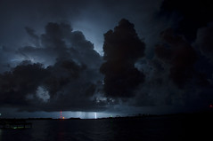 Hurlburt Field, Florida (fisherbray) Tags: sky usa gulfofmexico water night nikon wasser unitedstates florida military thunderstorm lightning airforce usaf afsoc hrt hurlburt soundside santarosasound hurlburtfield okaloosacounty d5000 khrt fisherbray