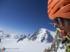 """And over there..."" (HendrikMorkel) Tags: mountains alps mountaineering chamonix alpineclimbing arêtedescosmiques arcteryxalpineacademy2015"